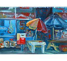 City Shop Original Oil Painting Ekaterina Chernova Photographic Print
