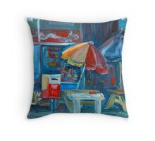 City Shop Original Oil Painting Ekaterina Chernova Throw Pillow