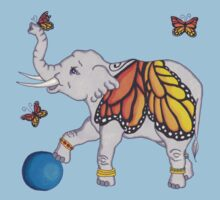 Butterfly Elephant One Piece - Short Sleeve