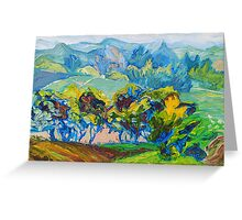 Summer Fields Original Oil Painting by Ekaterina Chernova Greeting Card