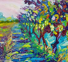 Grape Vines Original Oil Artwork by Ekaterina Chernova by Ekaterina Chernova