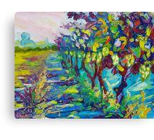 Grape Vines Original Oil Artwork by Ekaterina Chernova Canvas Print