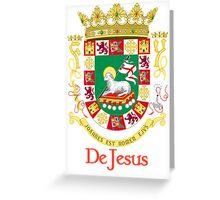 DeJesus Shield of Puerto Rico Greeting Card