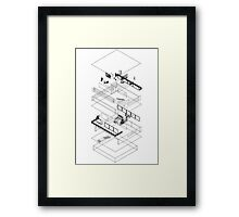 Architectural Exploded Line Graphic Framed Print