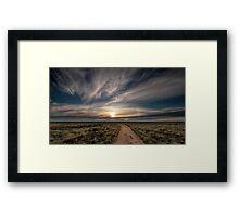Hay Plains Framed Print