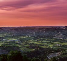 Badlands at sunset 1 by Kevin Fedde