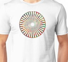 Spiral Abstract colorful bar Unisex T-Shirt