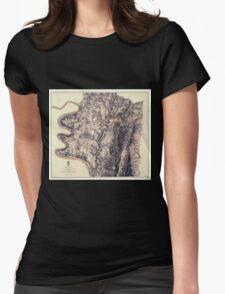 Civil War Maps 0046 Antietam Womens Fitted T-Shirt
