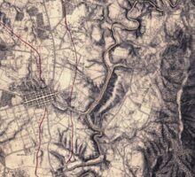 Civil War Maps 0046 Antietam Sticker