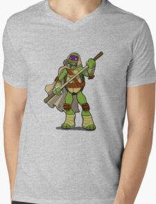 Donnie in a Patched Cloak Mens V-Neck T-Shirt