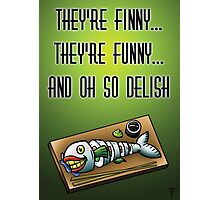 Laughing Fish Sushi Photographic Print
