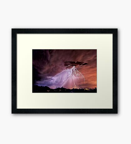 Once Upon a Monsoon Night Framed Print