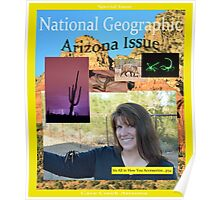 Fake Nat Geo Cover - Cave Creek Arizona Issue Poster
