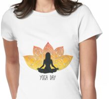 Yoga Day Womens Fitted T-Shirt