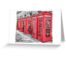 Red London Phone Box Greeting Card