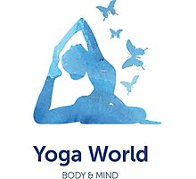 Yoga World Photographic Print