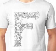 Floral Letter F Unisex T-Shirt
