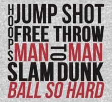 BASKETBALL TYPOGRAPHIC (RED AND BLACK) by mralan
