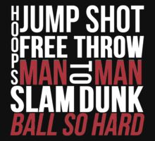BASKETBALL TYPOGRAPHIC (RED AND BLACK) by Alan Craker