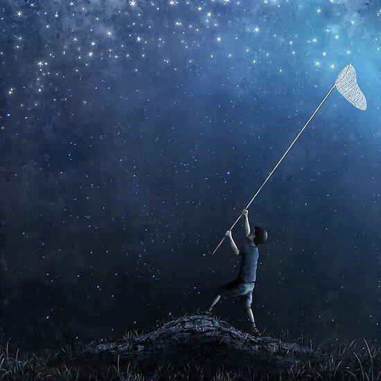 Falling stars by Oscar Monfort