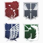 Attack on Titan Emblems by tobiejade