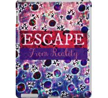 ESCAPE FROM REALITY Bold Typography Adventure Hipster Cool Ombre Blue Purple Abstract Pattern Art iPad Case/Skin