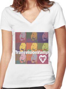 transvision vamp Women's Fitted V-Neck T-Shirt