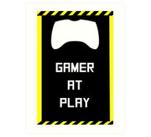 Gamer at Play Poster (A2) Art Print