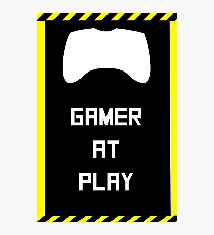 Gamer at Play Poster (A2) Photographic Print