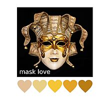 mask love Photographic Print