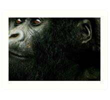 Gorilla Face Art Print