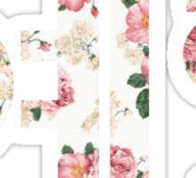 Yehet in hangul-flowers Sticker