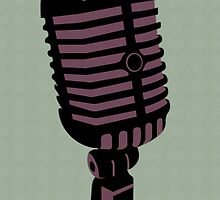 Retro Microphone by clarkeface
