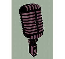 Retro Microphone Photographic Print