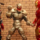 Iron Man and Iron Patriot Versus Ultron by Andrew DiNanno