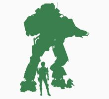 Green Robot Titan  - Sticker & Clothing - Vector Video Game by CooliPhones