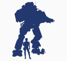 Blue Robot Titan  - Sticker & Clothing -  Vector Video Game by CooliPhones