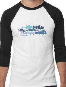 Fish collage ripped  Men's Baseball ¾ T-Shirt