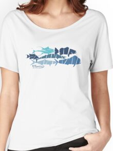 Fish collage ripped  Women's Relaxed Fit T-Shirt