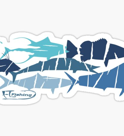 Fish collage ripped  Sticker