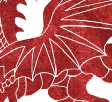 Welsh Red Dragon Sticker