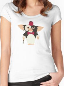 Gremlins Doctor Who Crossover  Women's Fitted Scoop T-Shirt