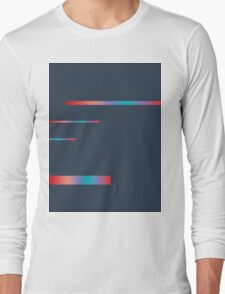 Red over Grey Long Sleeve T-Shirt