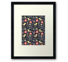 pattern of funny kittens and fish Framed Print