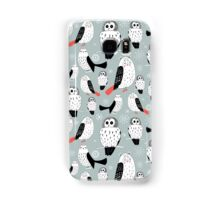 texture of white owls Samsung Galaxy Case/Skin