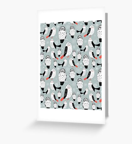 texture of white owls Greeting Card