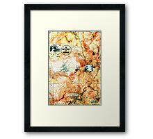 A Movement of Travail, from the Metaphysical Maps series. Framed Print