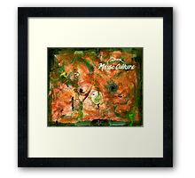 Muse Culture, from the Metaphysical Maps series Framed Print