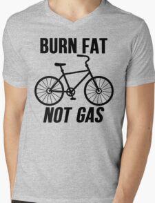 Burn Fat Not Gas Mens V-Neck T-Shirt