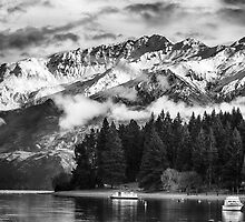 Wanaka Lake and Mountains by Charles Kosina